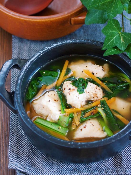 むね肉小松菜スープ9