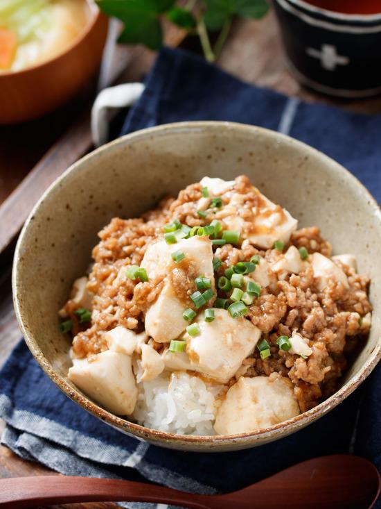 豆腐そぼろ丼4