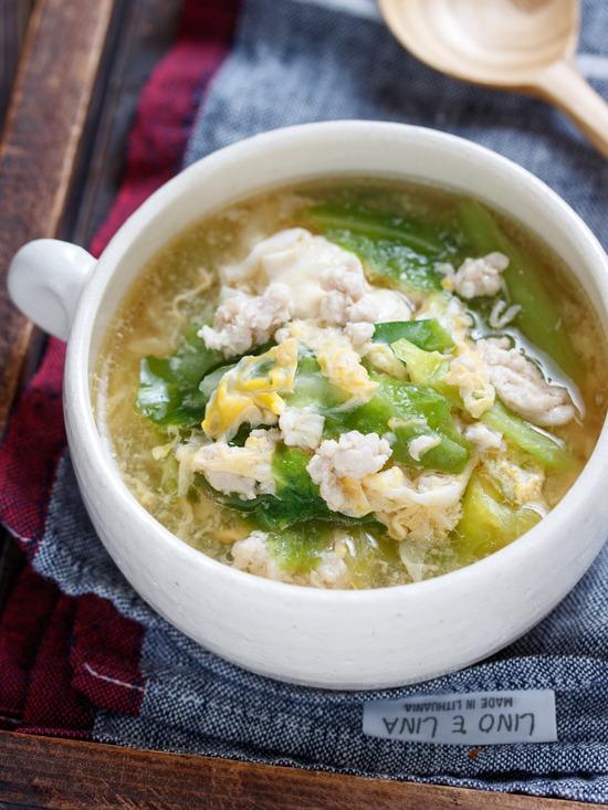 キャベツ親子スープ5