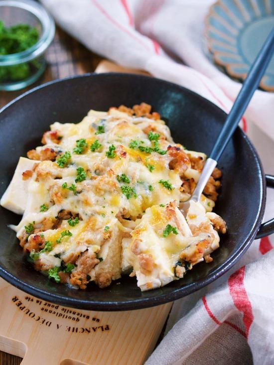 肉味噌豆腐グラタン9