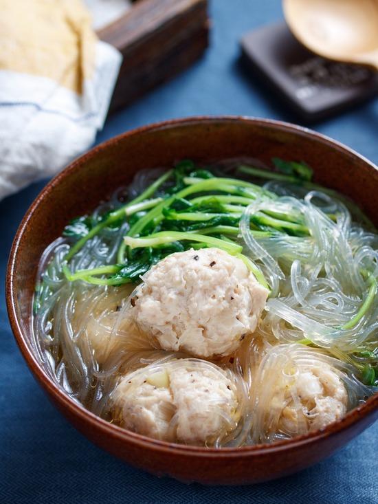 豆苗春雨スープ4