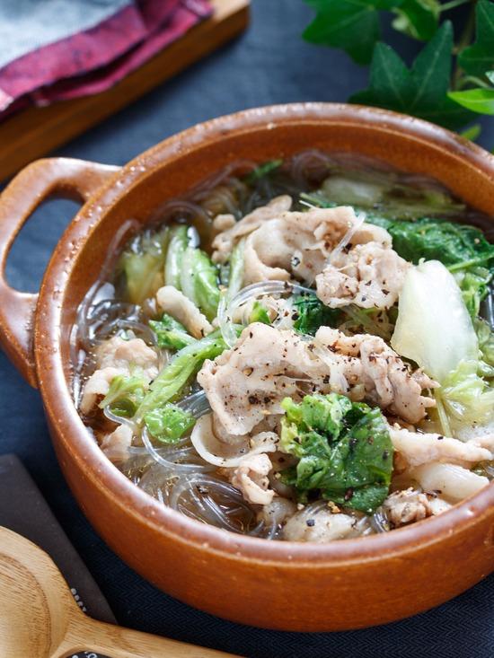 豚バラ白菜スープ5