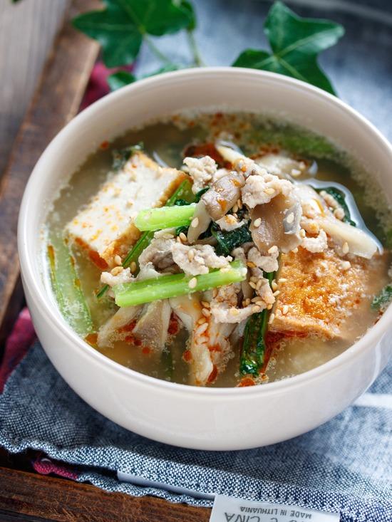 小松菜舞茸スープ1