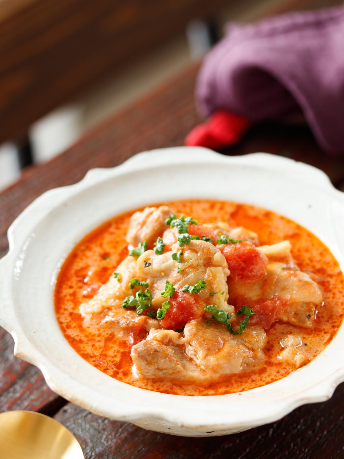鶏肉の無水 トマトクリーム煮 作り置き 冷凍保存 簡単