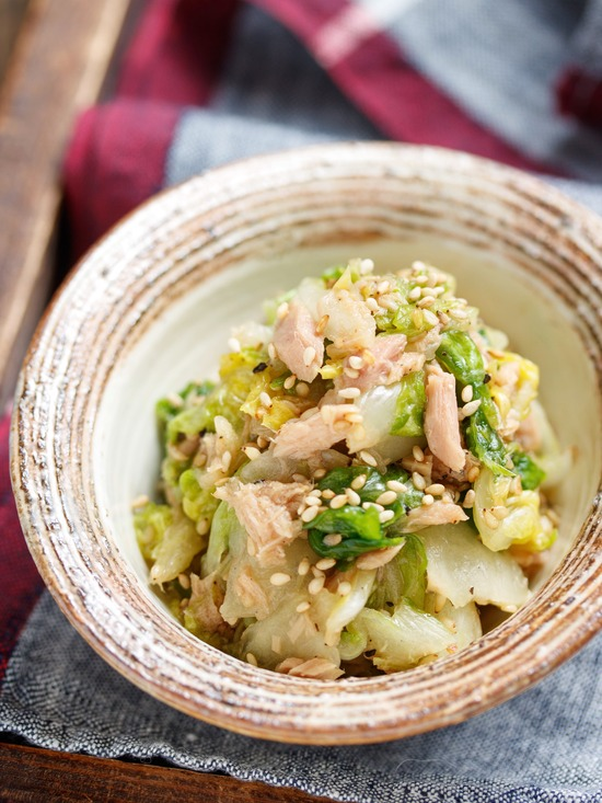 白菜ツナサラダ9