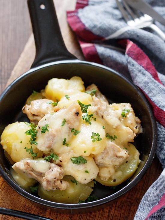 チキンとポテトのチーズ焼き7