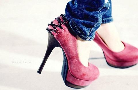Pink heels 9