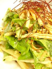 鶏とキムチのサラダ 020