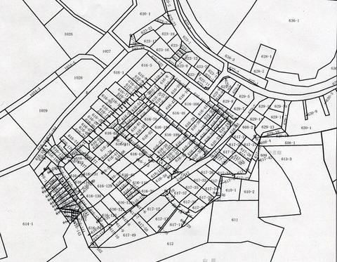 山田の放棄住宅地の地番図
