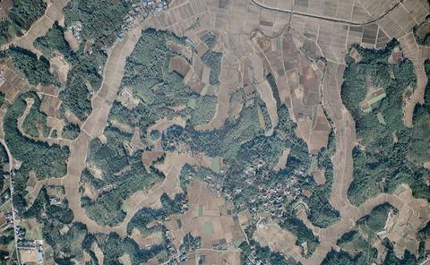 匝瑳市小高 上空写真1975