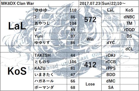 (20170723) LaL vs KoS