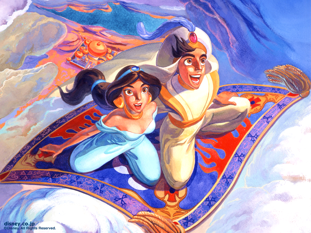 アラジンとジャスミンの素敵な壁紙