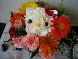 葛飾の生徒さんから頂いたキティの花かごB