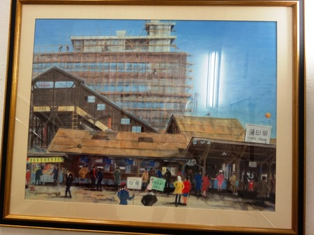 24JR蒲田駅の絵画