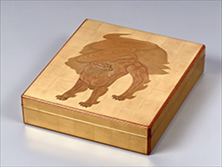 14高野松山作蒔絵色紙箱