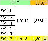 8000P回数