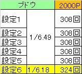 2000Pブドウ回数
