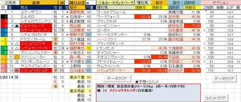 3.30 阪神8R 三木ホースランドパーク・予想