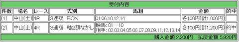 1.18 中山4R 的中馬券1