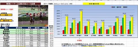 13 中京4R 障害3000 データ1