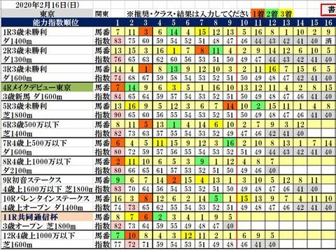 2.16 東京コンピ結果