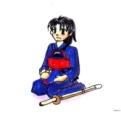 若い剣士正座1