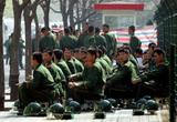 April 2005 Military police opposite the Japanese embassy in Beijing AP Photo Greg Baker 2