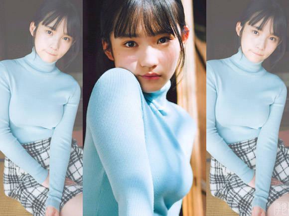 AKB新世代の超絶美少女 矢作萌夏のニット巨乳