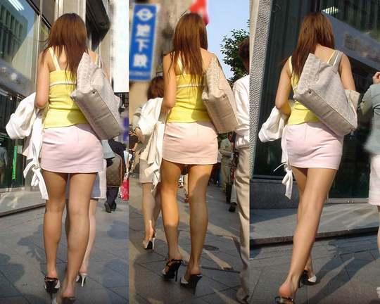 盗撮魔の思うツボな背後からの美脚盗撮エッチ画像!被写体は全員素人www