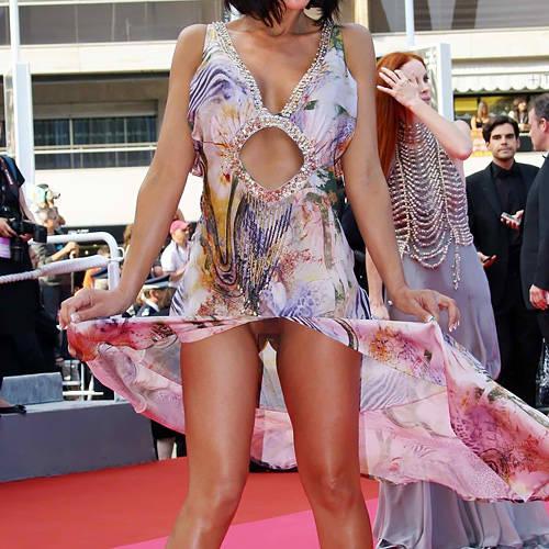 見せるのが商売とは言え、何もそこまで…ww有名女優のマンチラ on レッドカーペットwww