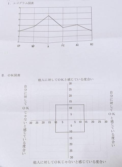 エゴグラム・OK図表グラフ