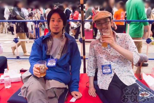 今年もZUNさん&ひろゆきさん一緒にビール!『ニコニコ超会議』超ZUNビールブースが大盛況!