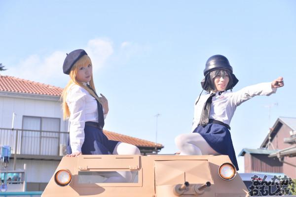 ガルパン痛車や実物大戦車模型をバッグにレイヤーさんを撮影!『第18回大洗あんこう祭』コスプレフォトレポート_9973