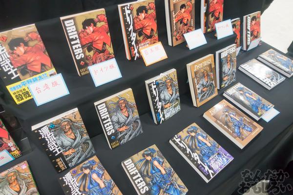 生原稿な模造刀、グッズ販売も「ドリフターズ原画展」秋葉原で開催!02567