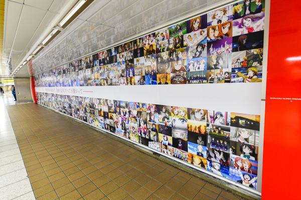 『ラブライブ!』大規模広告が新宿地下のメトロプロムナードに登場!17