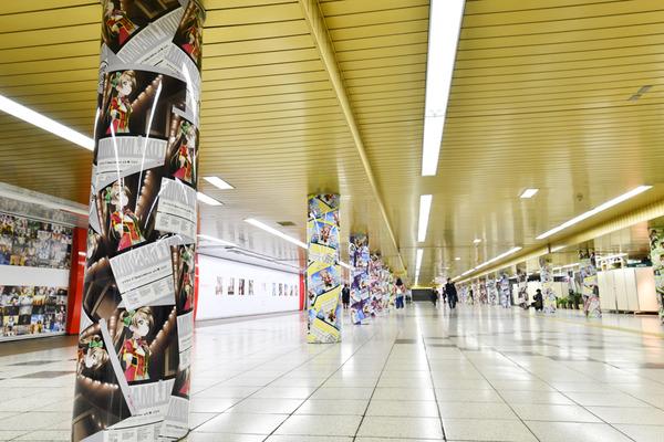 『ラブライブ!』大規模広告が新宿地下のメトロプロムナードに登場!33