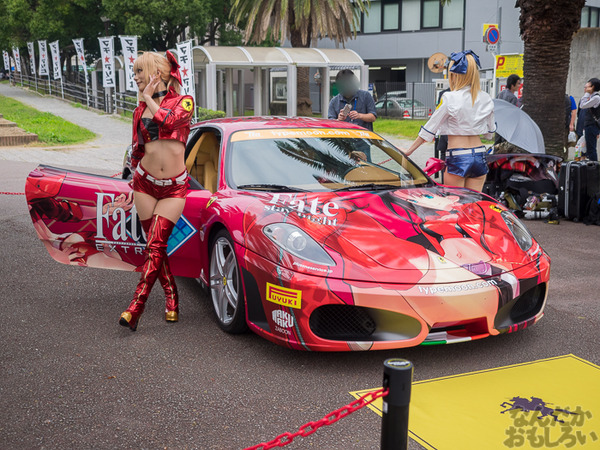 『マチアソビvol.15』武内崇さん描き下ろし痛車「Fateシリーズ」仕様のフェラーリ展示!ハイクオリティな超高級痛車を撮影してきた