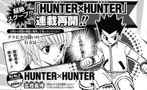 『HUNTER×HUNTER』2018年1月に連載再開!