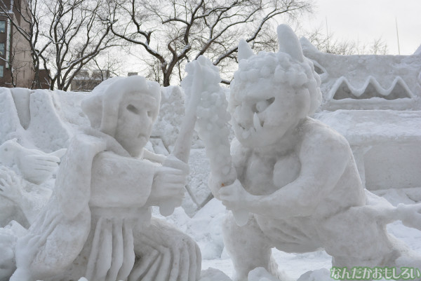 『SNOW MIKU 2014』西11丁目会場の雪ミク雪像や物販の様子などなど_0170