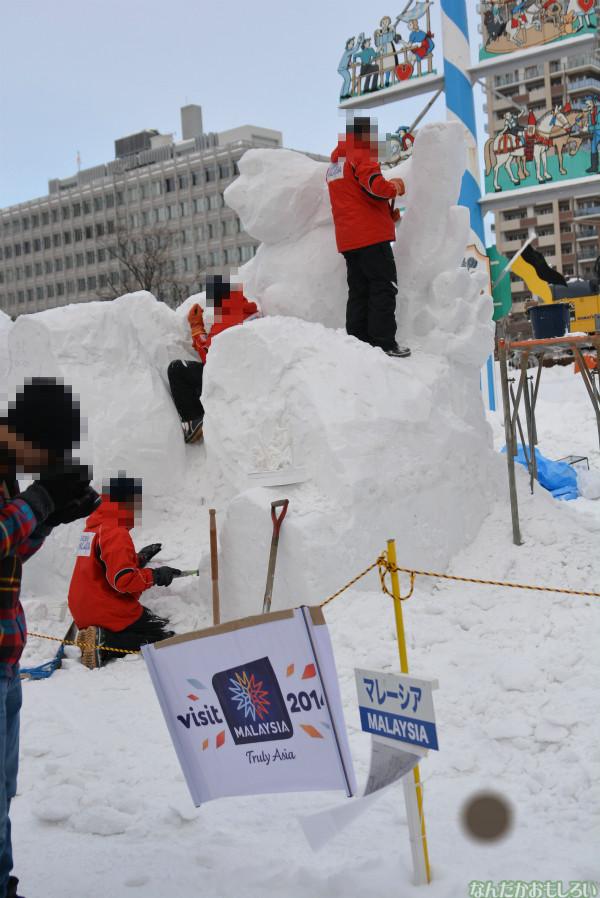 『SNOW MIKU 2014』西11丁目会場の雪ミク雪像や物販の様子などなど_0156