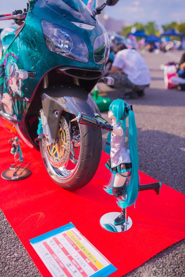 『痛Gふぇすたinお台場2015』痛いバイクもたくさん集結!痛単車まとめ ラブライブ!多め、ミク痛単車とミクレイヤーさんの合わせも_2476