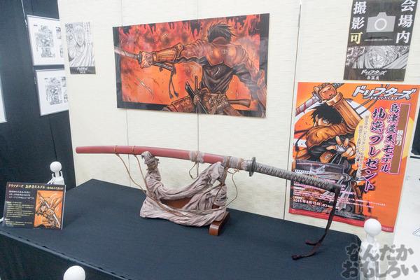 生原稿な模造刀、グッズ販売も「ドリフターズ原画展」秋葉原で開催!02549