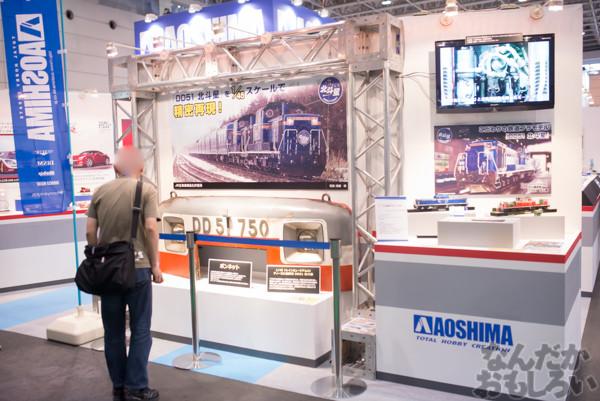 実際の車両のボンネットや前照灯も展示!『第54回静岡ホビーショー』アオシマブースにて部品点数1000パーツ以上の「北斗星」牽引車プラモデル展示!