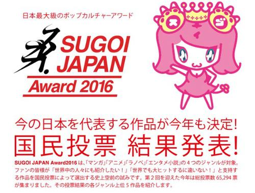 SUGOI JAPAN Award2016