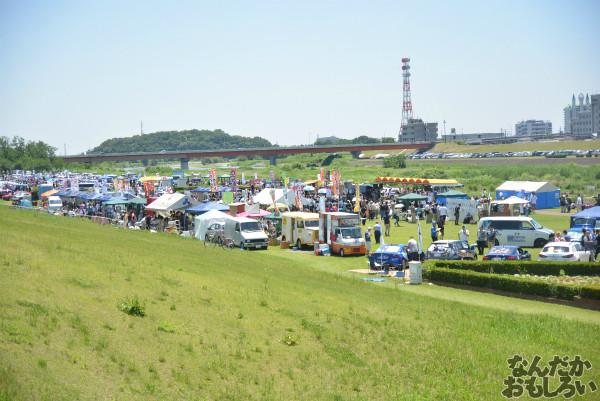 「第8回足利ひめたま痛車祭」会場全体の様子