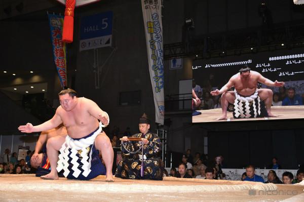 大相撲超会議場所の横綱土俵入り