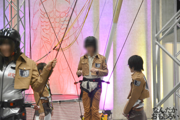 """実際に""""立体機動""""を体験!『ニコニコ超会議3』「進撃の巨人」「Free!」「アイドルマスター」関連のコーナーを紹介_0010"""