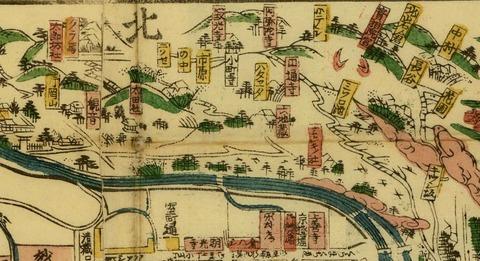 洛中洛外町之小名大成京細見絵図(1868年=慶応4年)京都