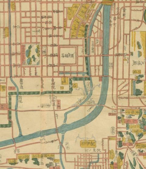 文久改正新増細見京絵図大全(1863年)京都