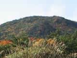 紅葉の始まった山頂